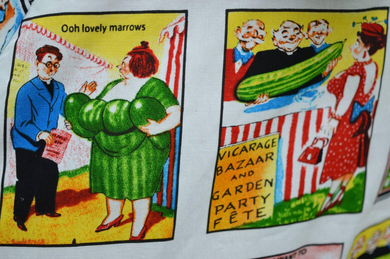 British Retro Saucy Postcard dress
