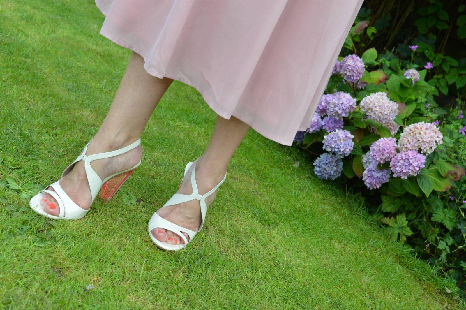 Costume National pink perspex heel sandals
