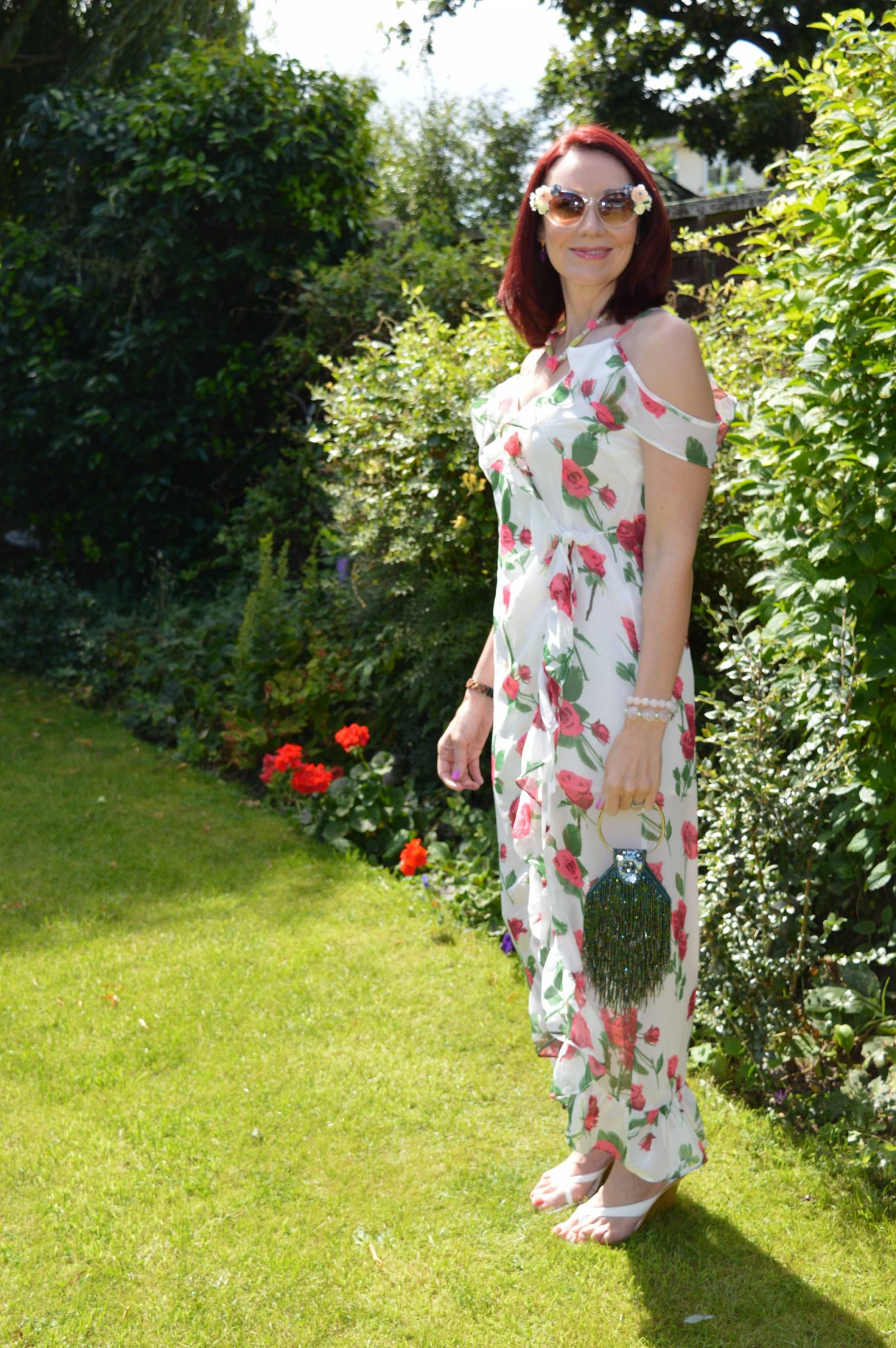 Wedding Guest Dresses From PrettyLittleThing white floral cold shoulder dress