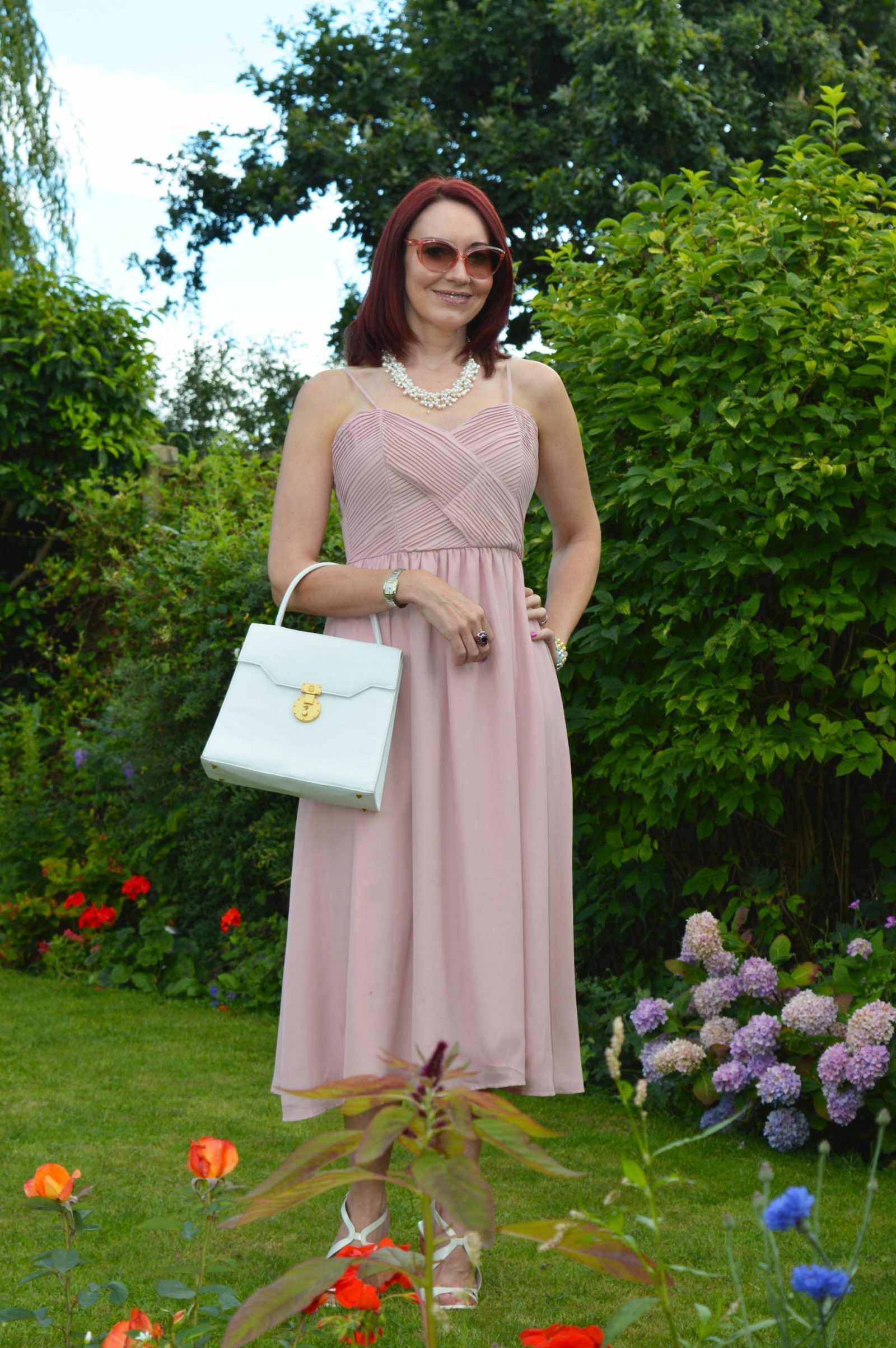Wedding Guest Dresses From PrettyLittleThing Gracelyn dusty pink midi dress