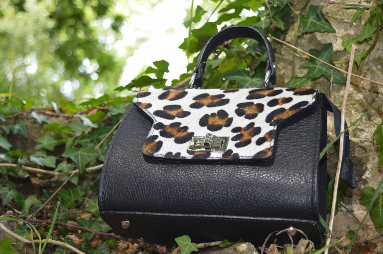 leopard print flapover bag