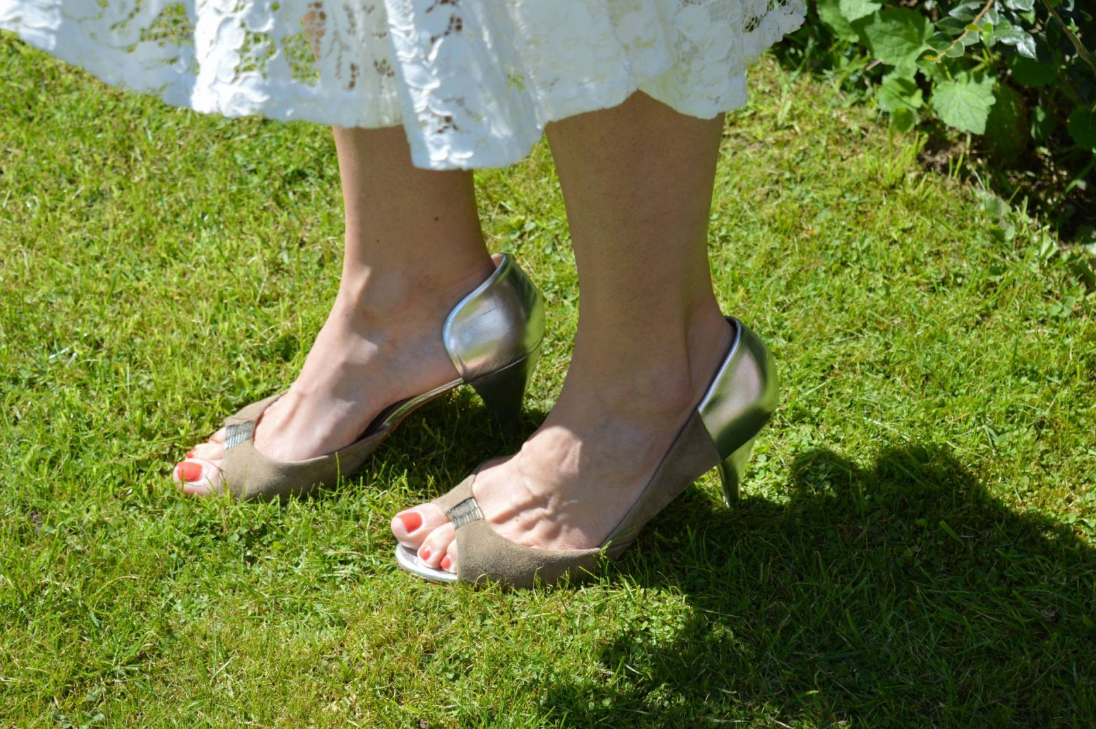 Ted Baker silver and taupe shoes
