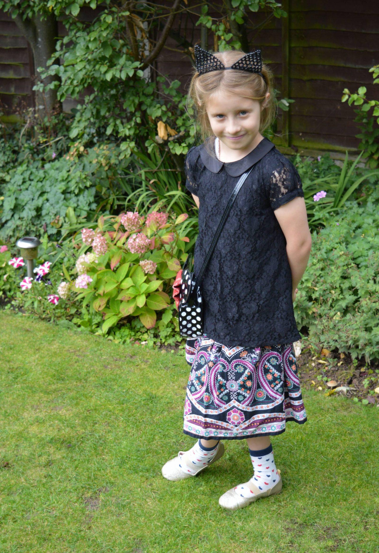 Tu girl's skirt black lace top