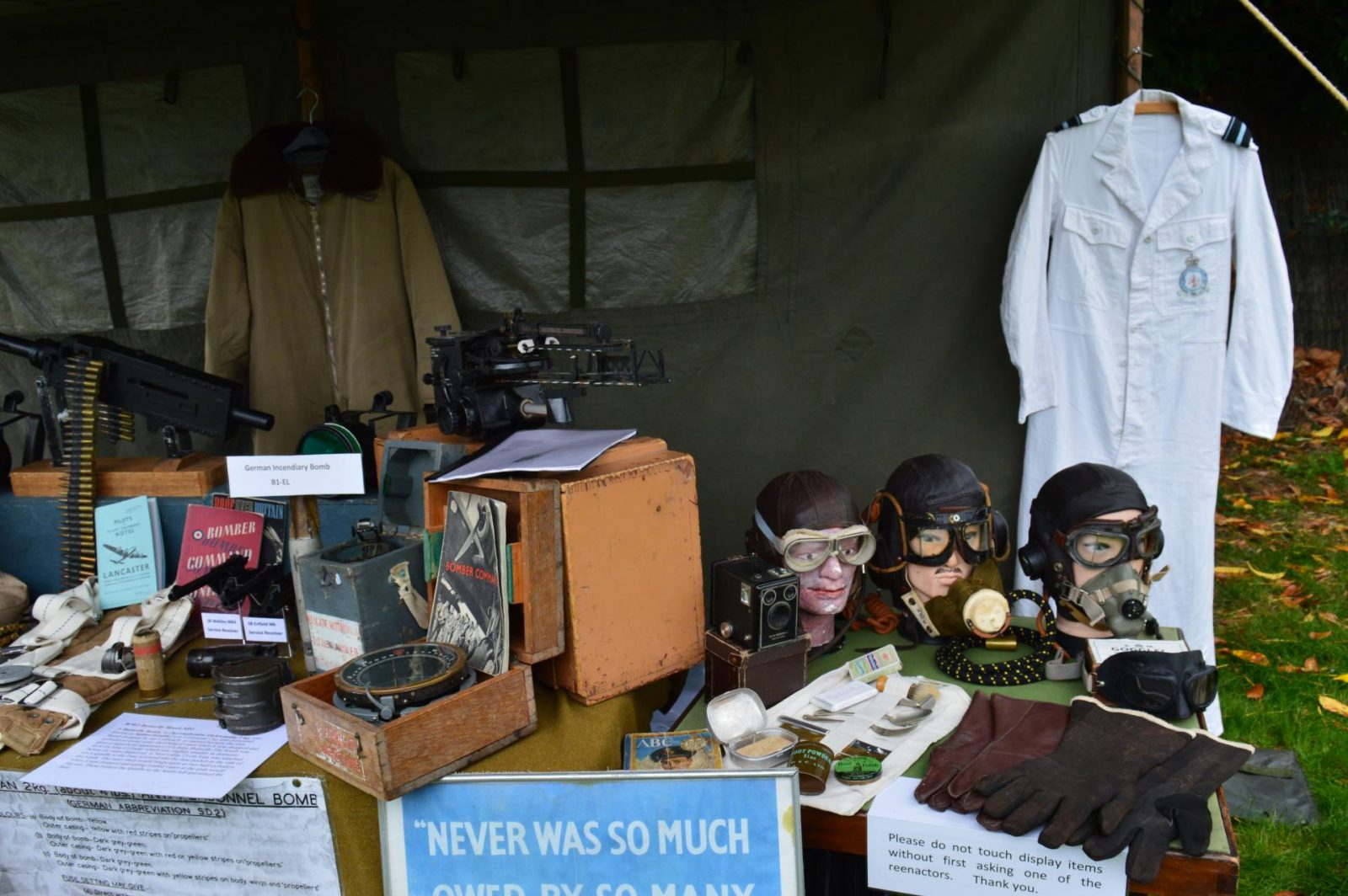 'Life on the Holme Front' 1940s Weekend gas masks