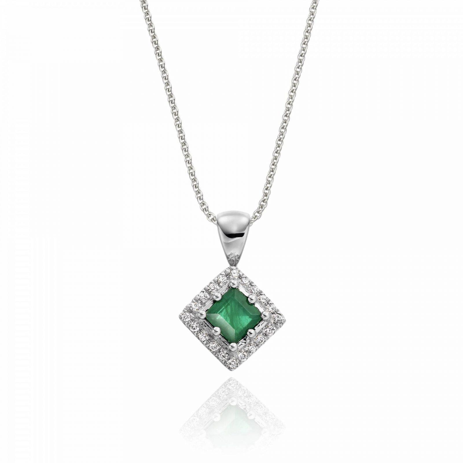 Celebrating Milestones With Diamonds Emerald and diamond pendant