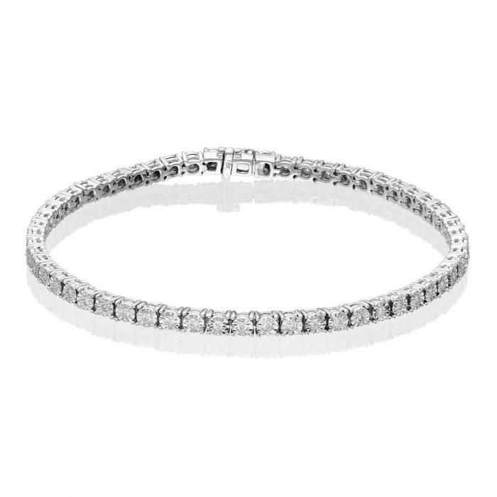 white gold and diamond tennis bracelet