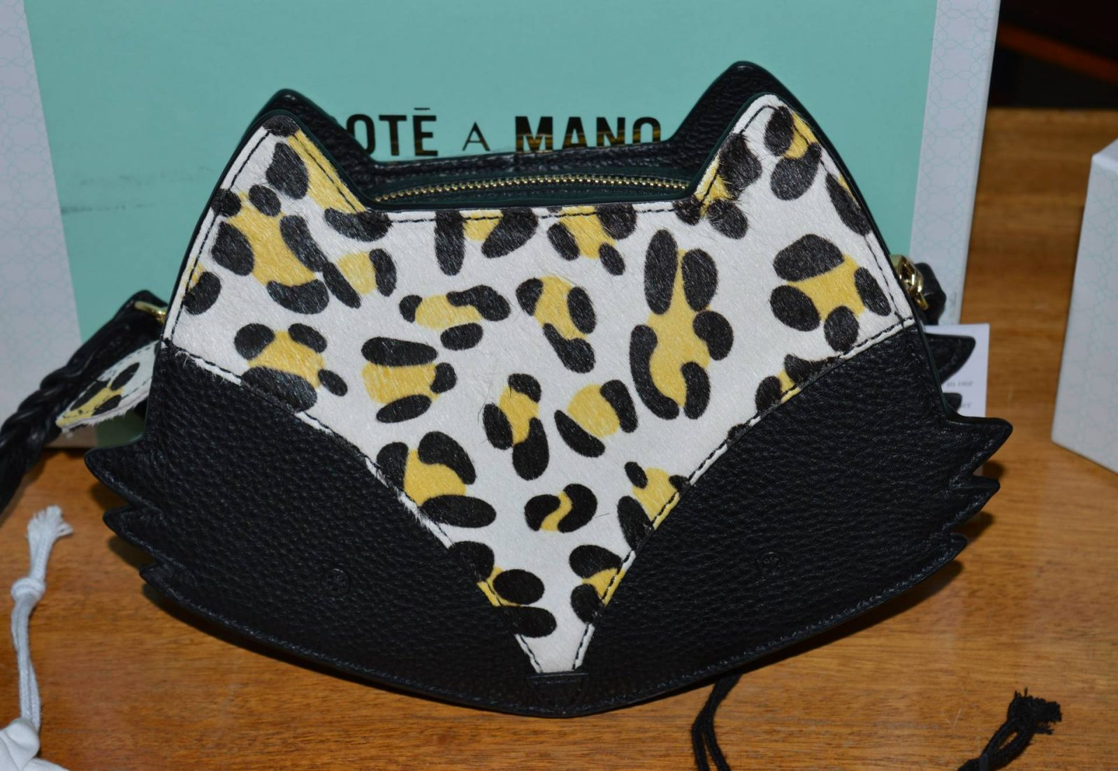 leopard print fox bag