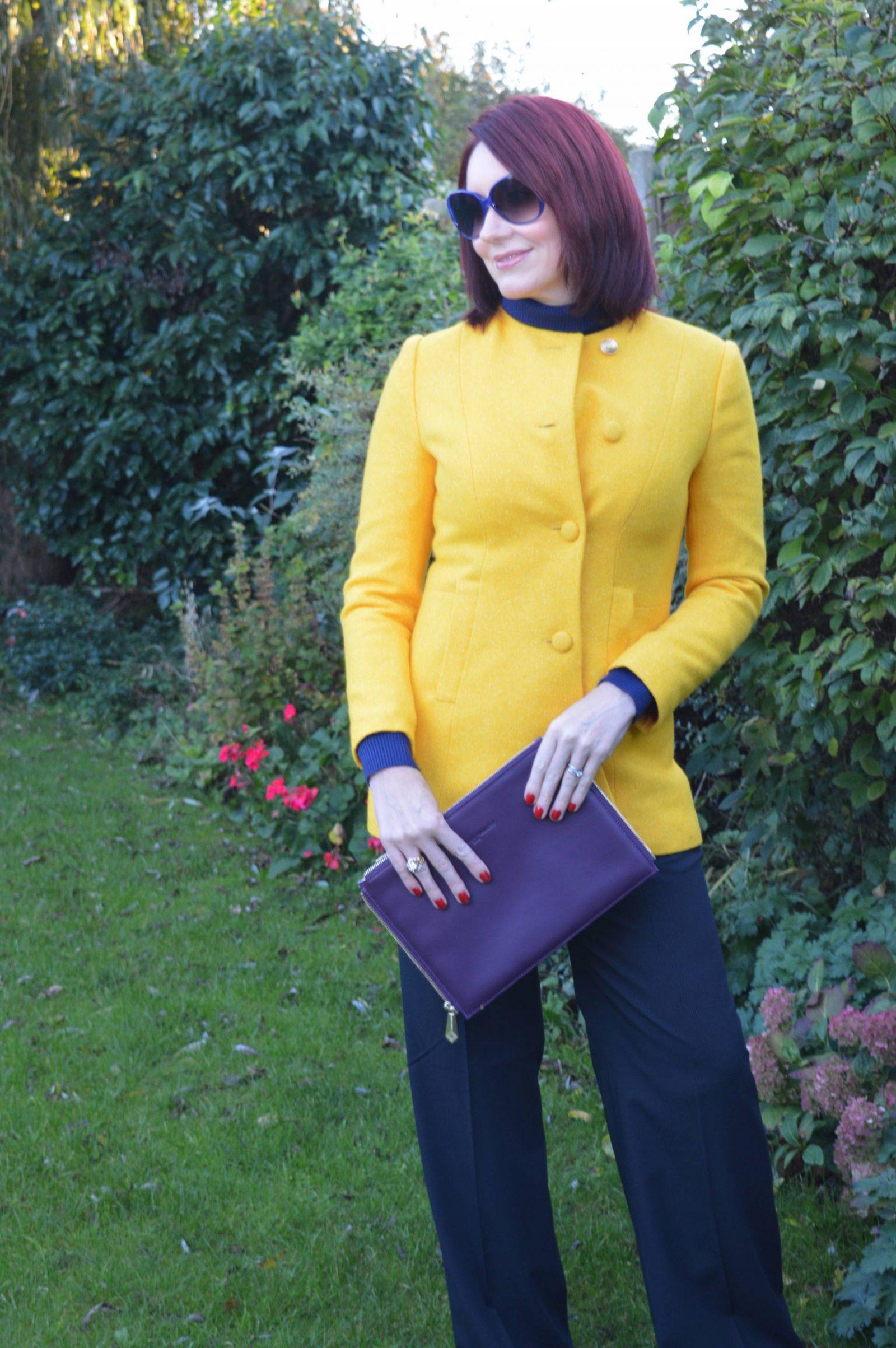 Bright Yellow Coat and Meeting Jacynth from The Bias Cut Emile Vidal Carr yellow Ellis coat