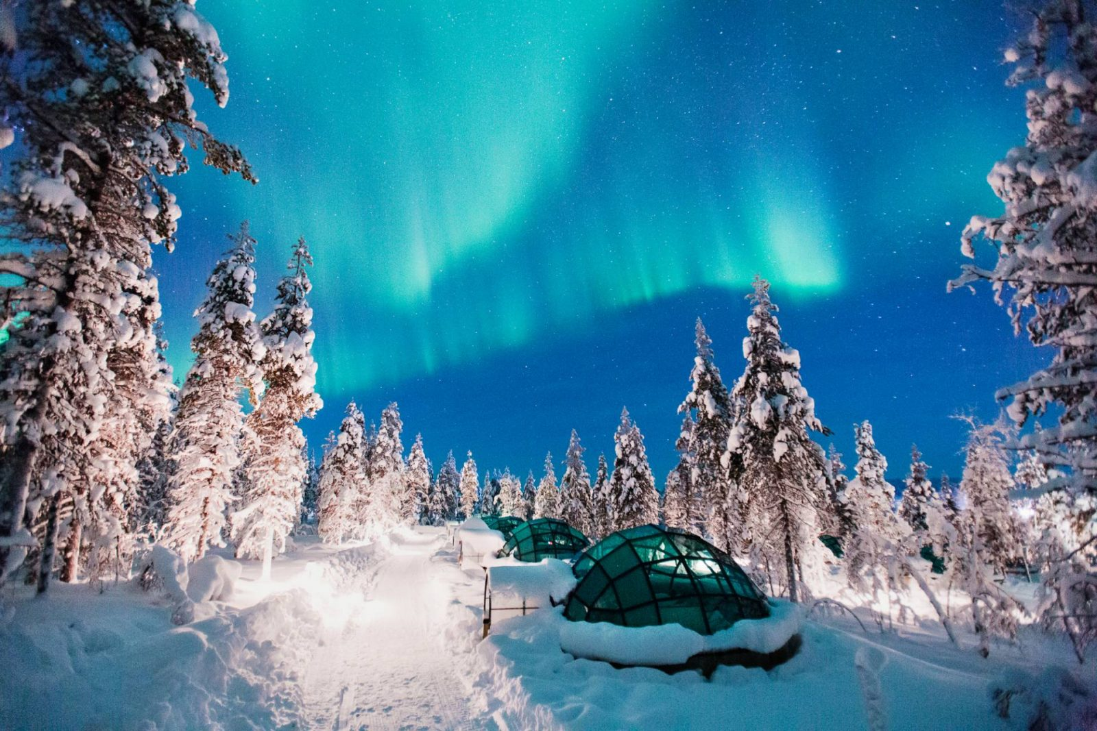 My Ideal Winter Retreat glass igloo in Finland, Northern Lights
