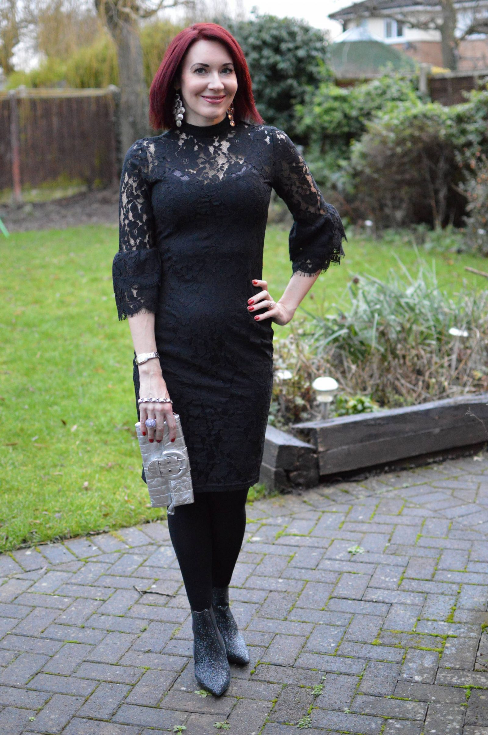 Paper Dolls Black Lace Dress New Years Eve Outfit Inside Wedges Johanna