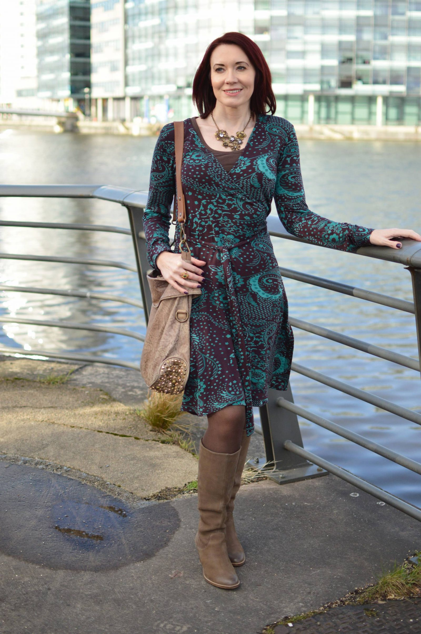 A Classic Wrap Dress Never Goes Out of Fashion