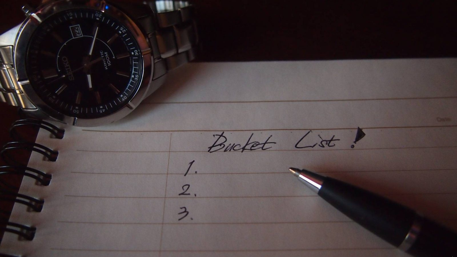 Why I've Finally Decided To Make a Bucket List