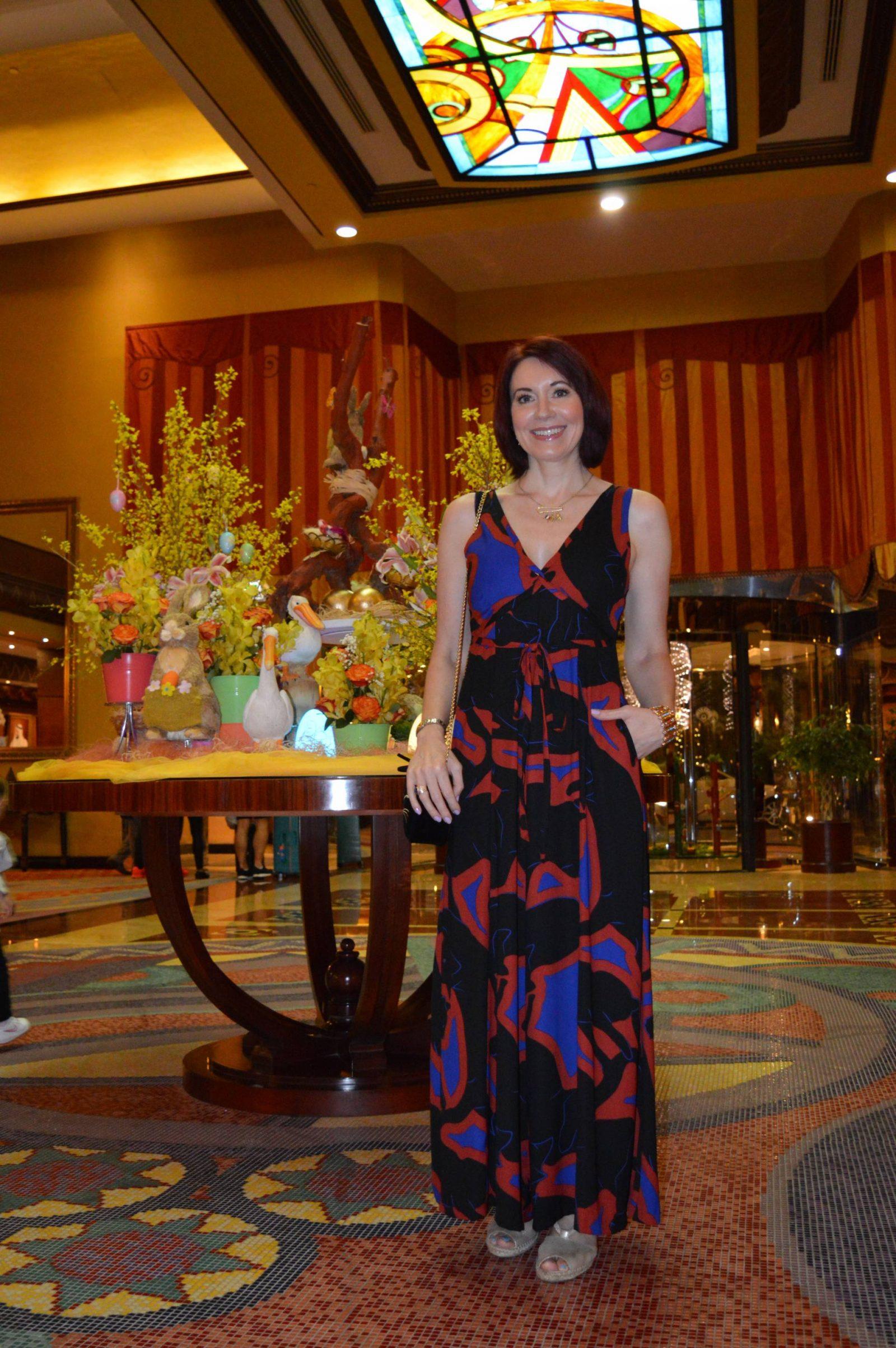 Issa Wide Leg Jumpsuit, lobby of Al Raha Beach hotel, Abu Dhabi