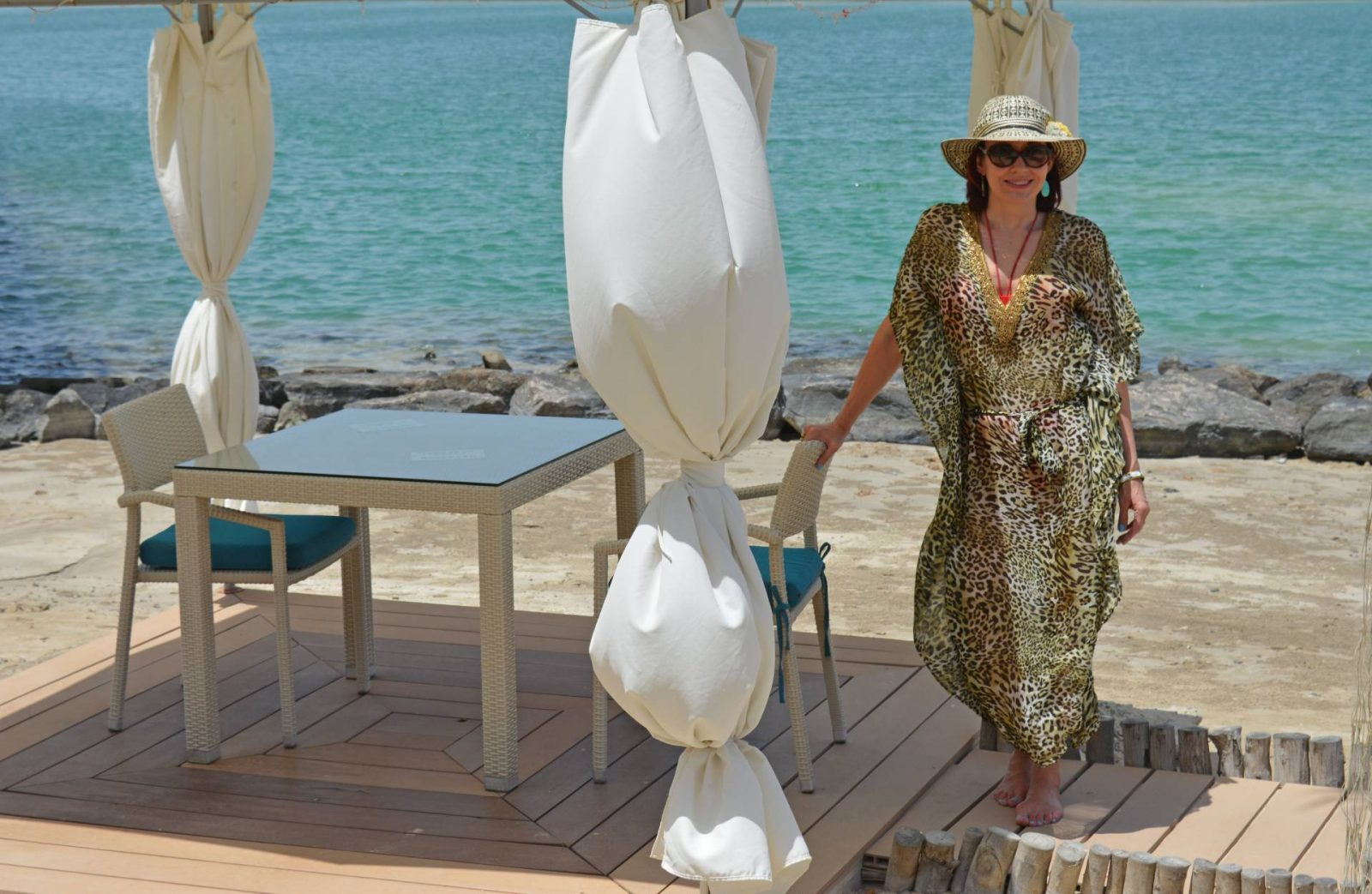 Poolside Glamour With Miss Tunica, Mondello leopard print tunic