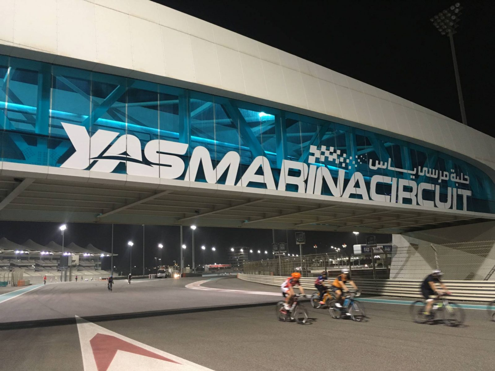 6 Things To Do in Abu Dhabi, cyclists on Yas Marina racetrack