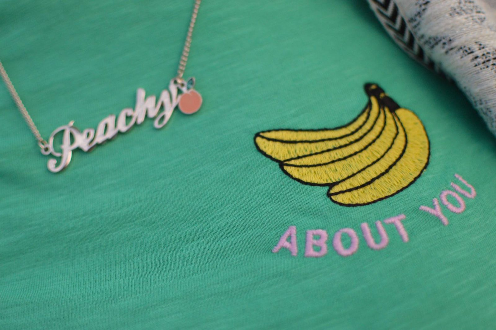 A wonderful week in Brittany + Sunday Reflections link up, Skinny Dip Peachy necklace, Topshop bananas T-shirt