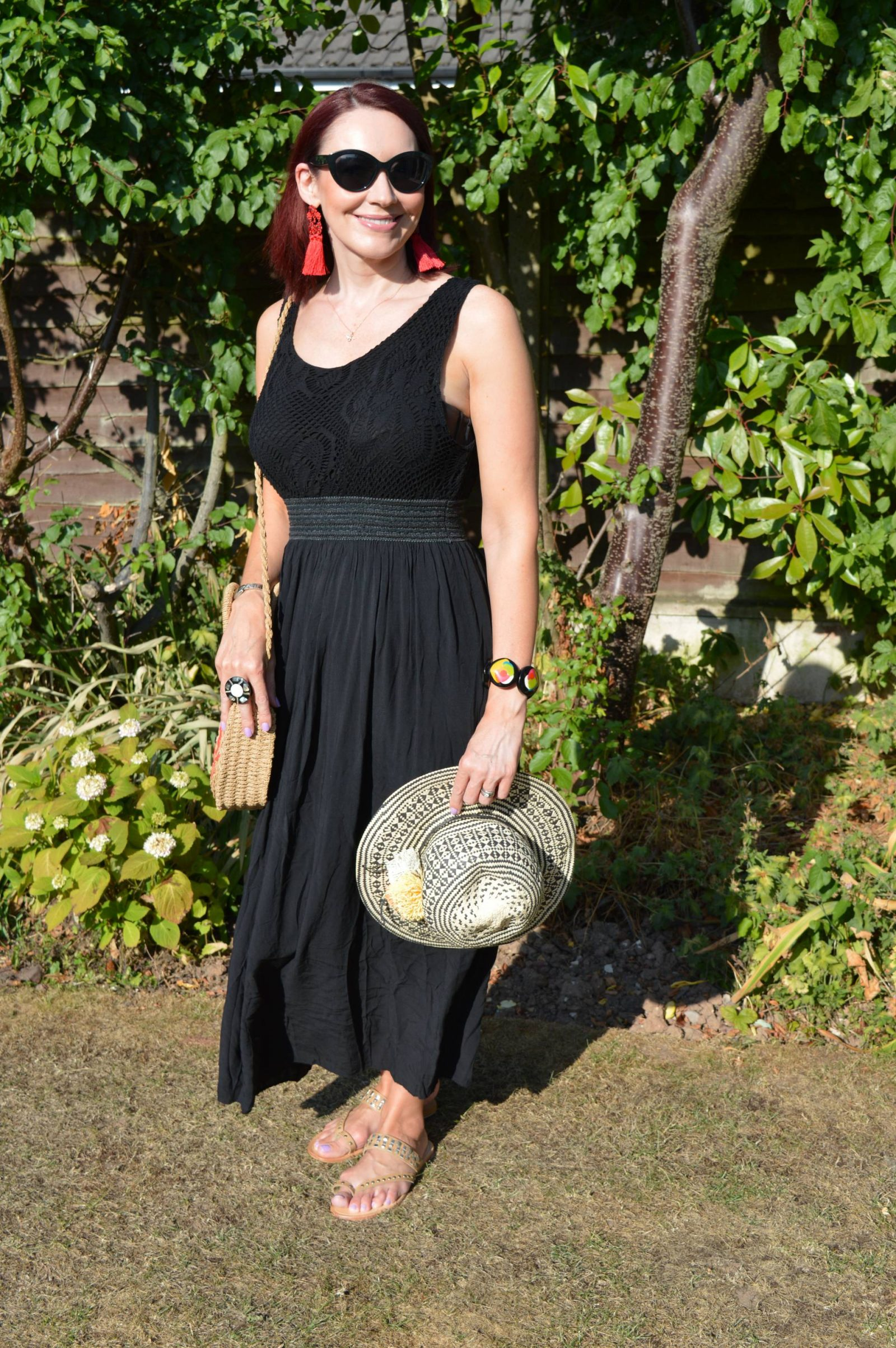 Black maxi dress for a hot Summer's day