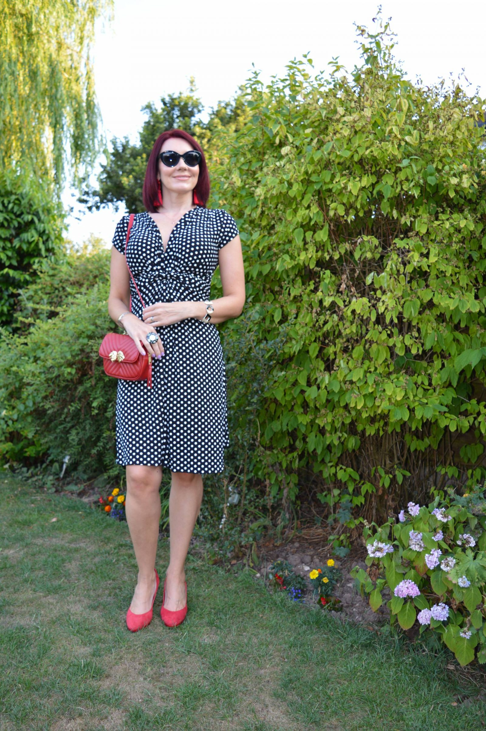 Krisp polka dot dress