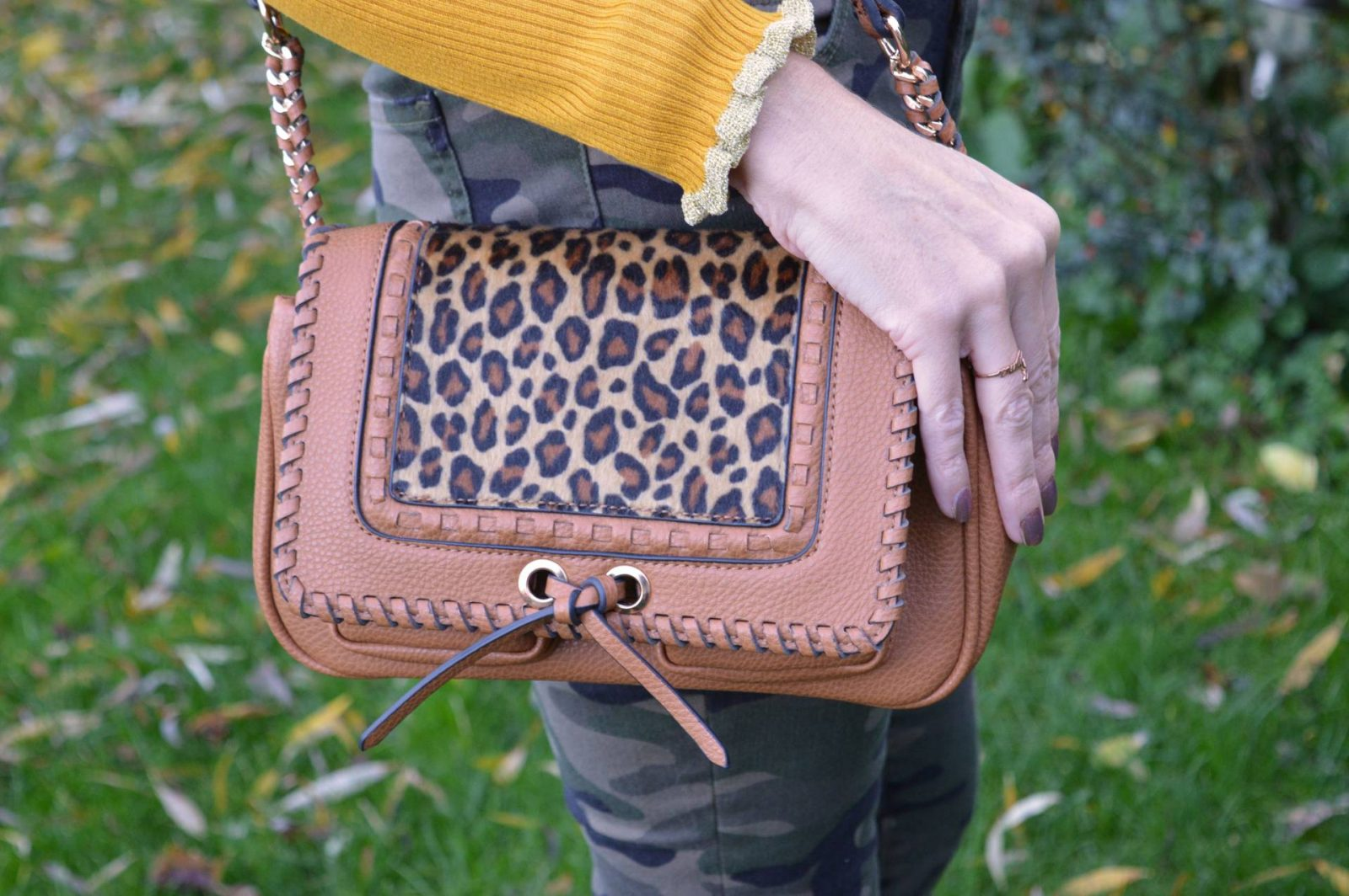 Style Not Age Collective - Keen as Mustard, Scottage tan and leopard print bag