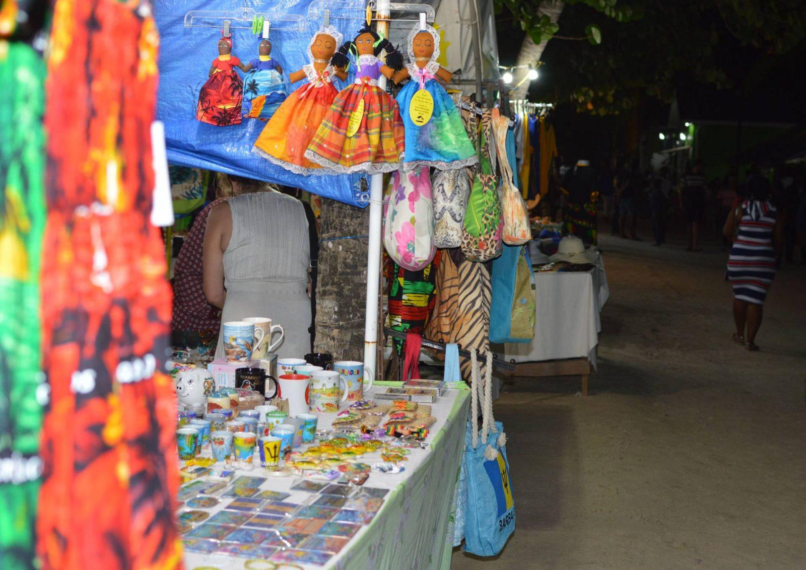 Oistins fish fry, market stall