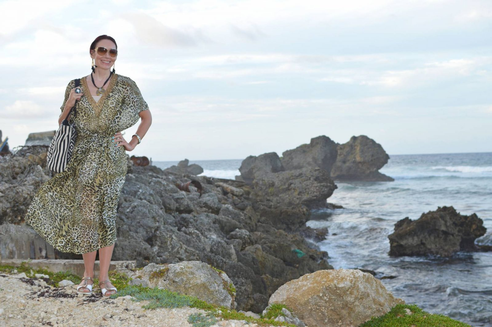 Miss Tunica leopard print tunic and lunch at The Atlantis Historic Inn