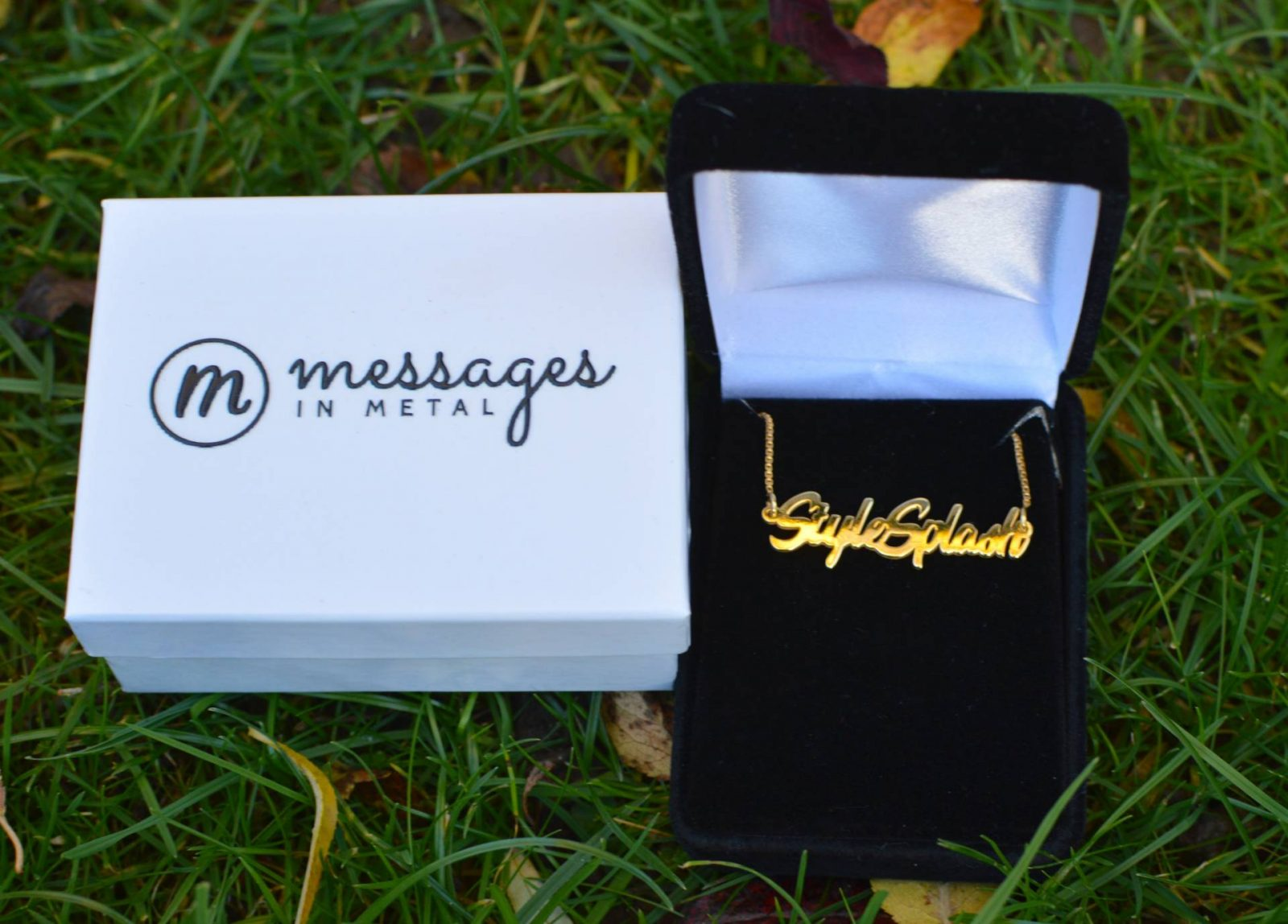 Messages in Metal personalized necklace