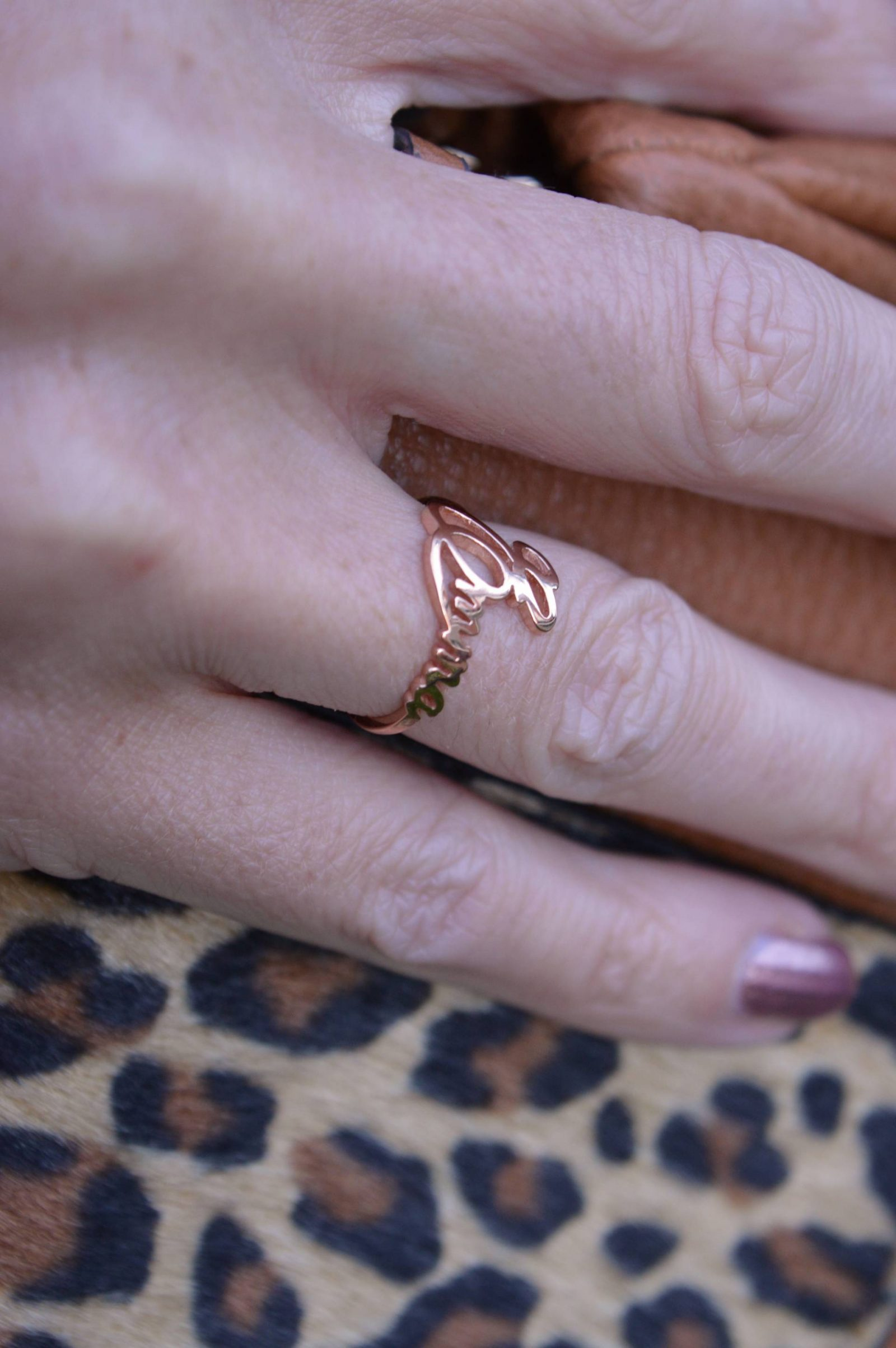 Style Not Age Collective - Keen as Mustard, Centime custom name ring