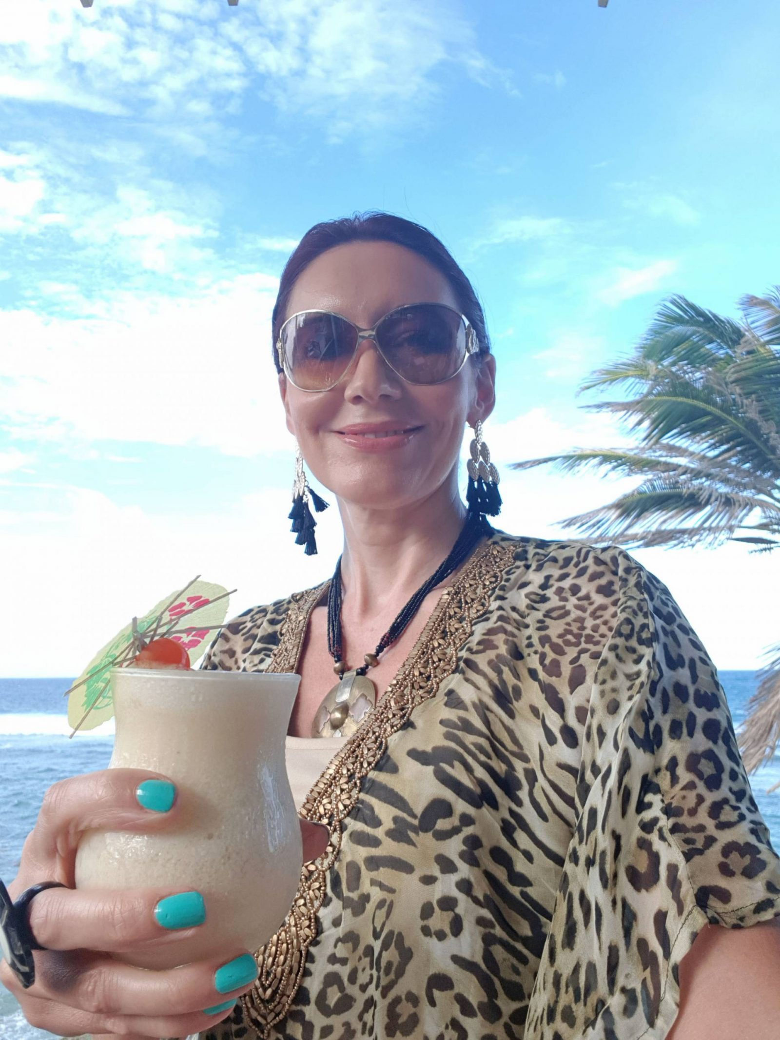 Miss Tunica leopard print kaftan and lunch at The Atlantis Historic Inn