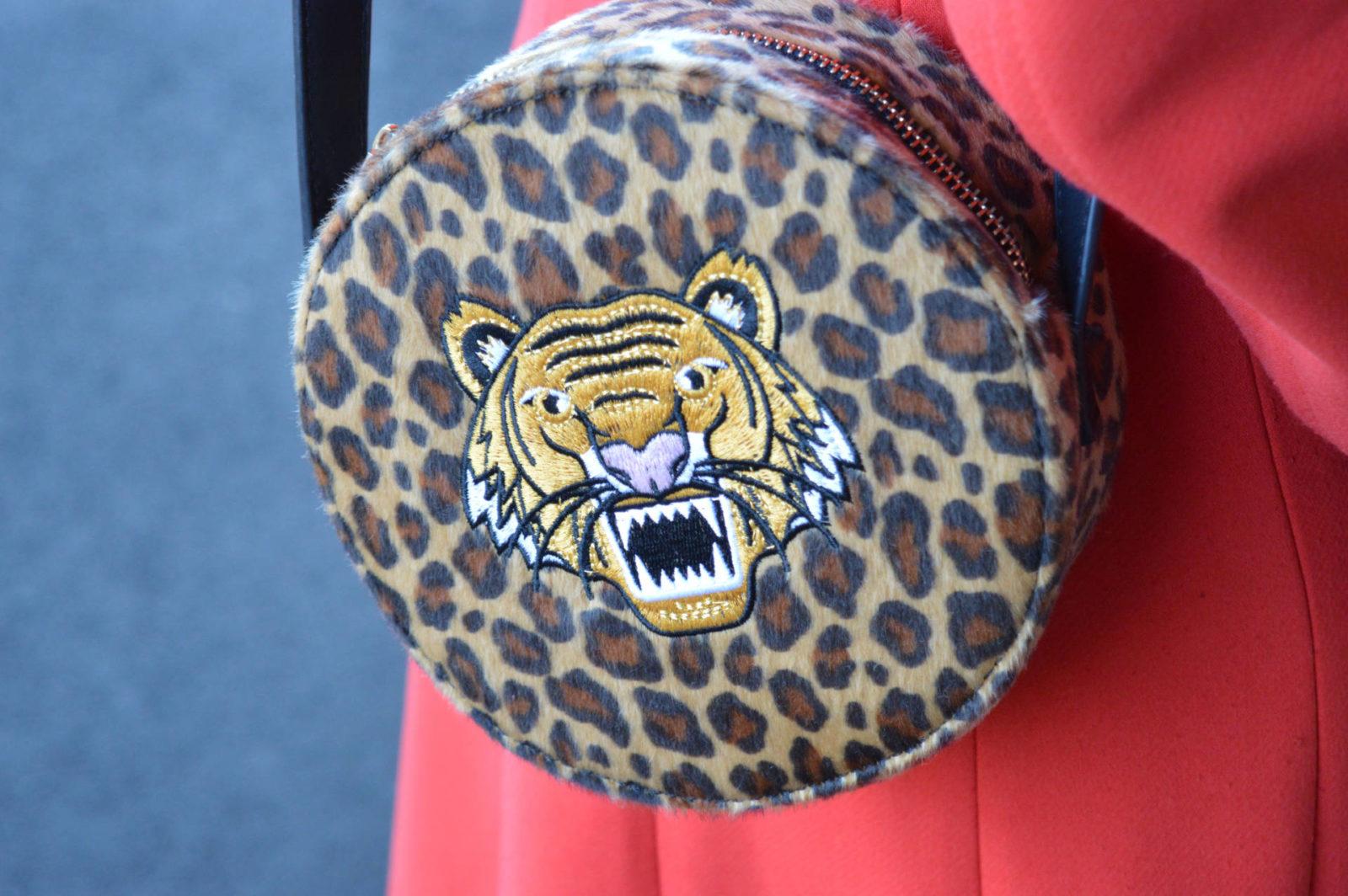 Skinny Dip leopard print bag