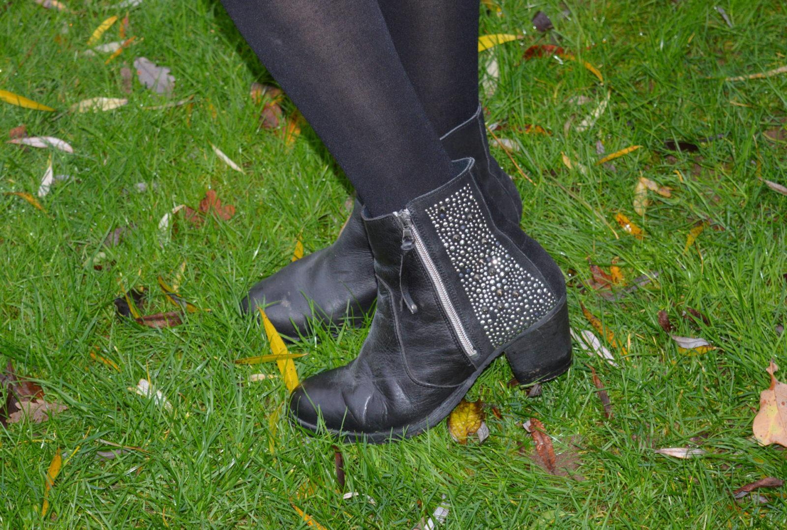 Kurt Geiger studded ankle boots