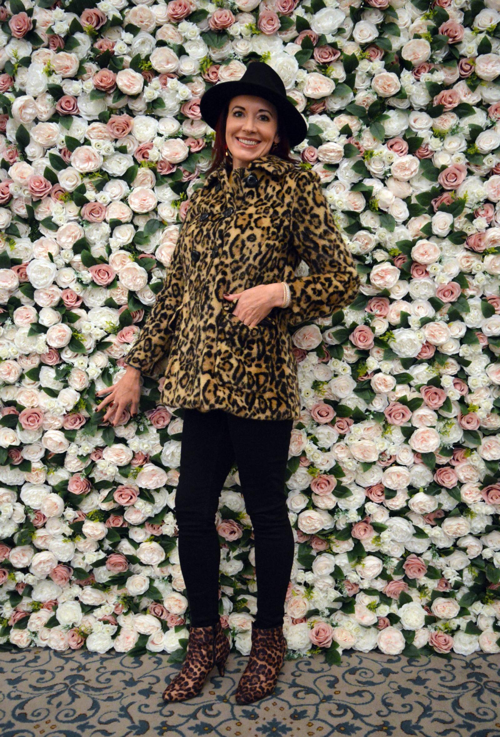 Blogosphere Festival 2018, leopard print faux fur coat