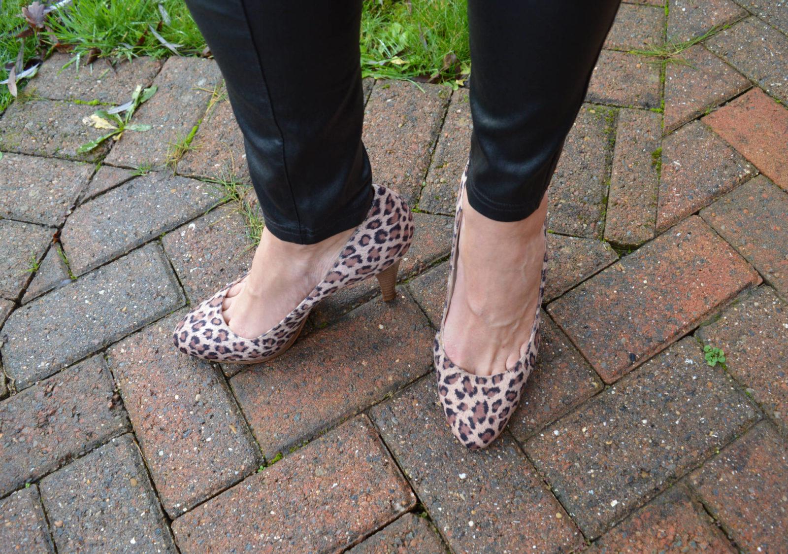 leopard print court shoes