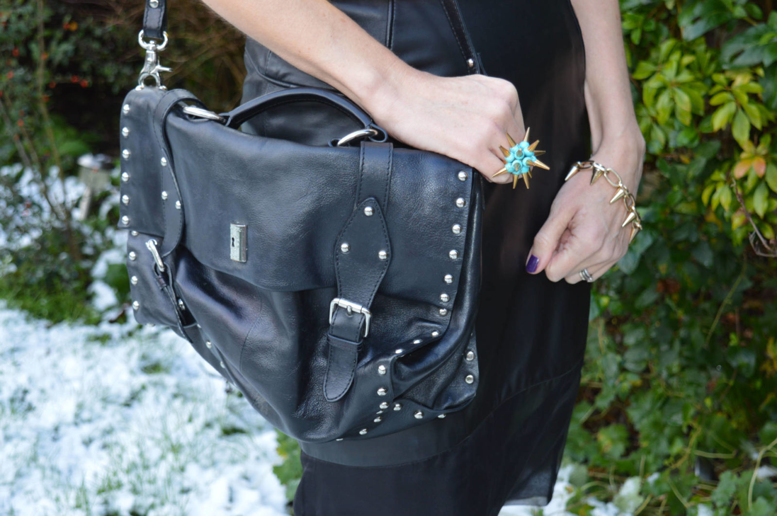 Match Made in Seven: Punk, Modalu satchel Merle O'Grady spike ring