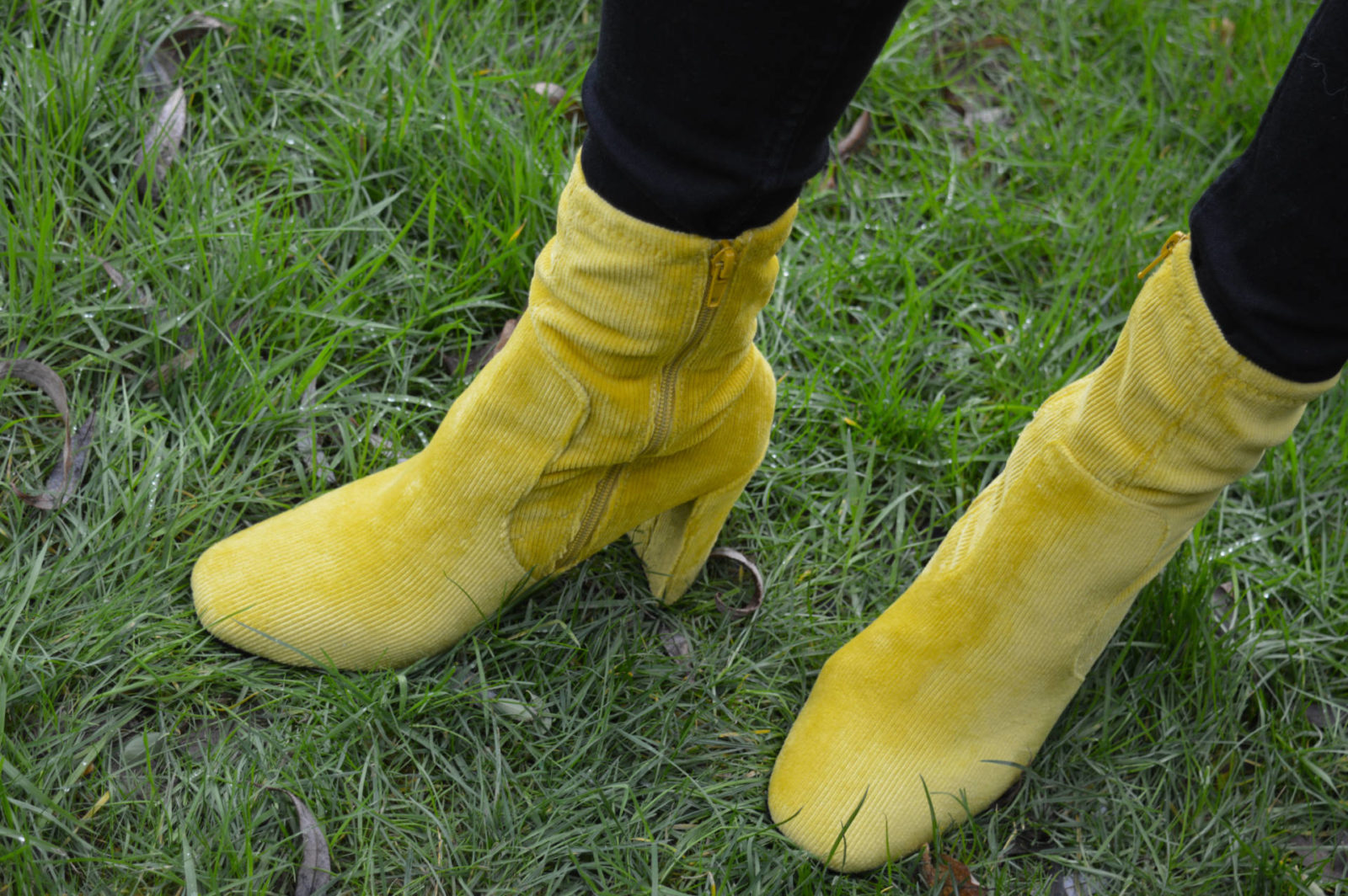 Style Not Age - January Jumpers, River Island yellow boots