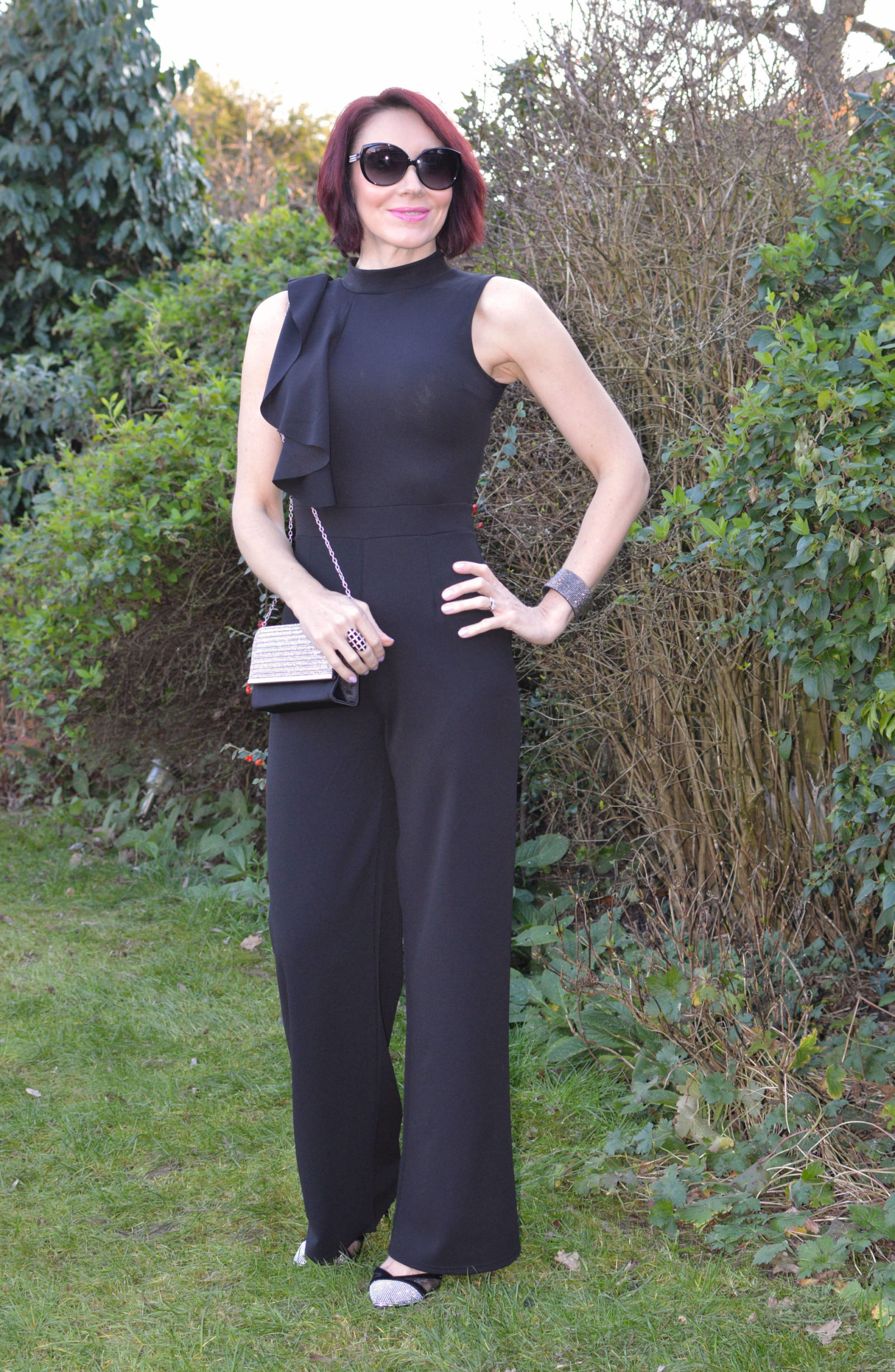 Styled by my husband: Quiz Palazzo Jumpsuit