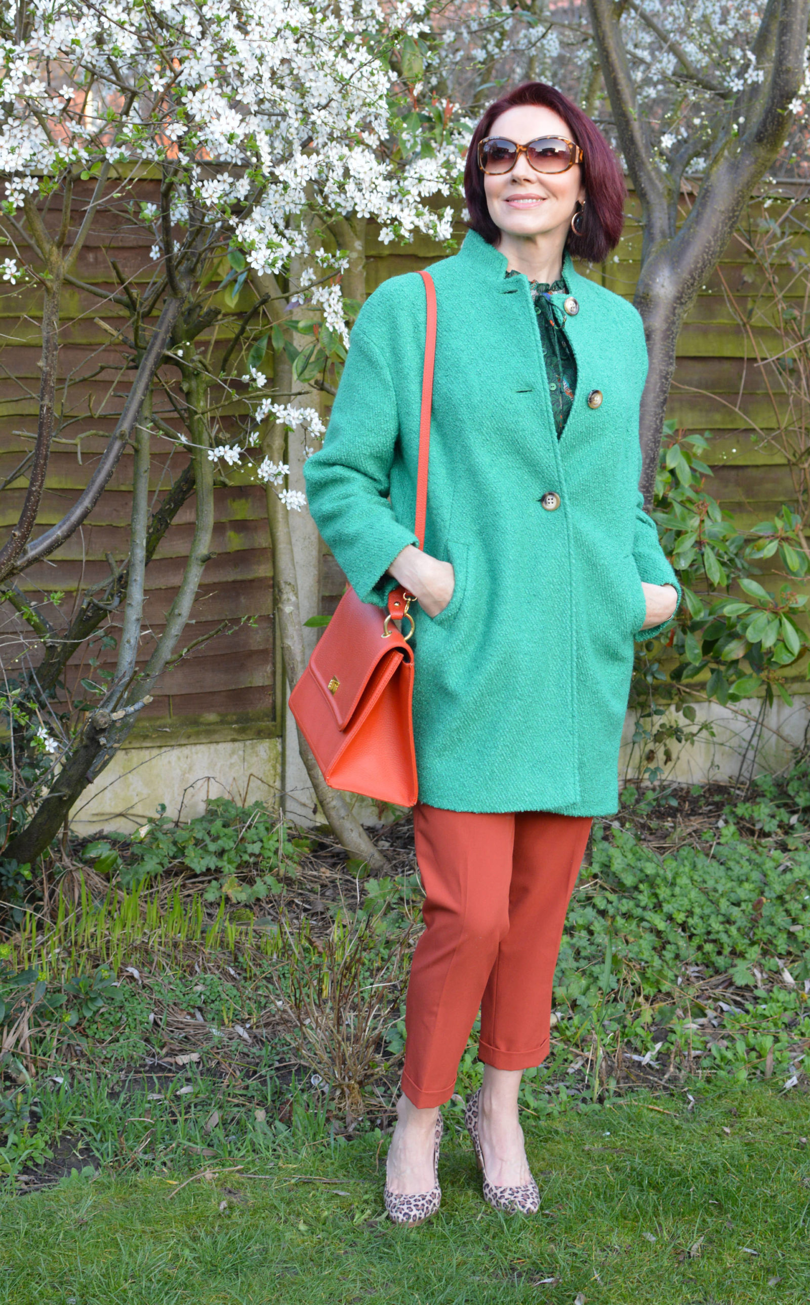 How We Style Seven Shades of Green + #StylishMonday Link Up