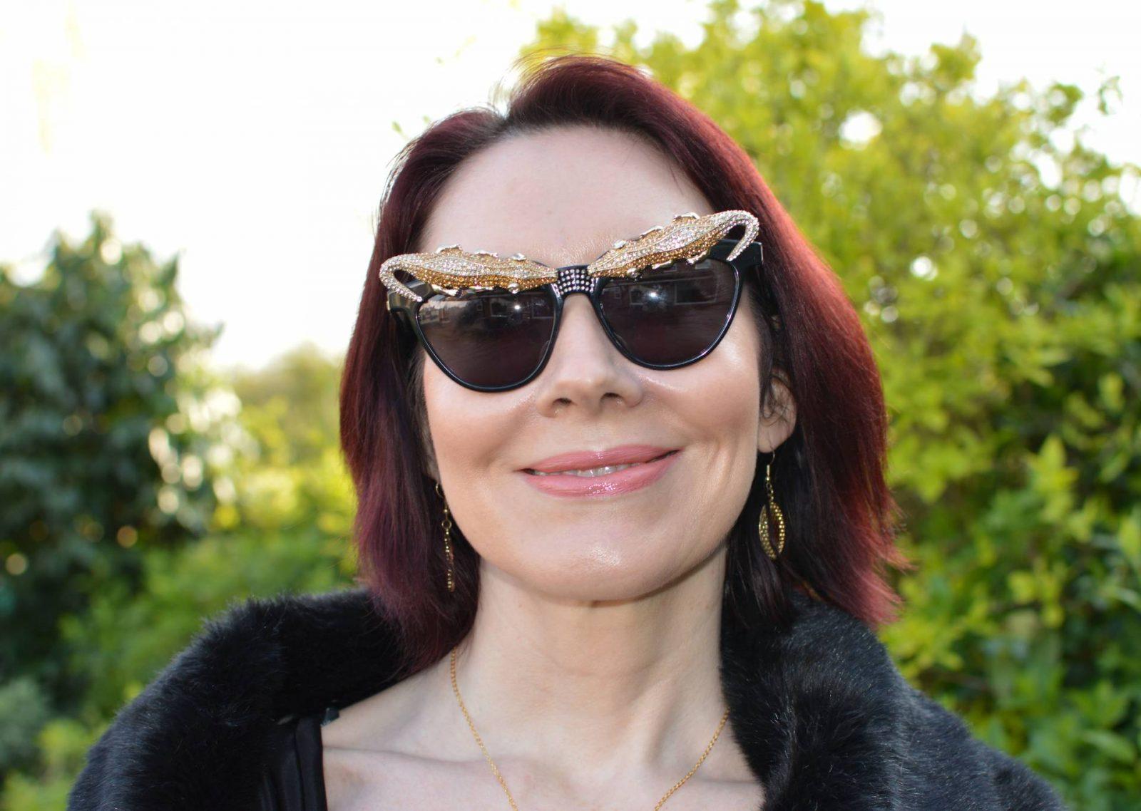 Match Made in Seven: Accessories Make the Look, Anna Dello Russo H&M lizard sunglasses