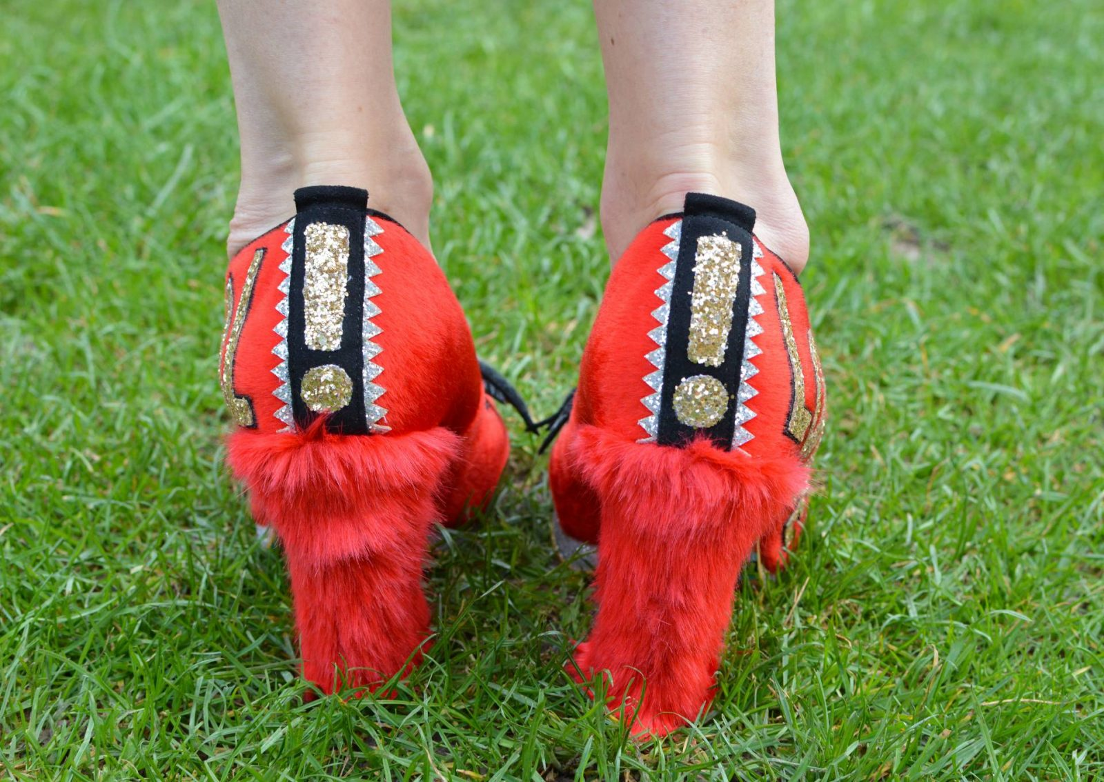 Style Not Age March Madness - Muppets, Stripes and Faux Fur, Muppets Irregular Choice Animal shoes