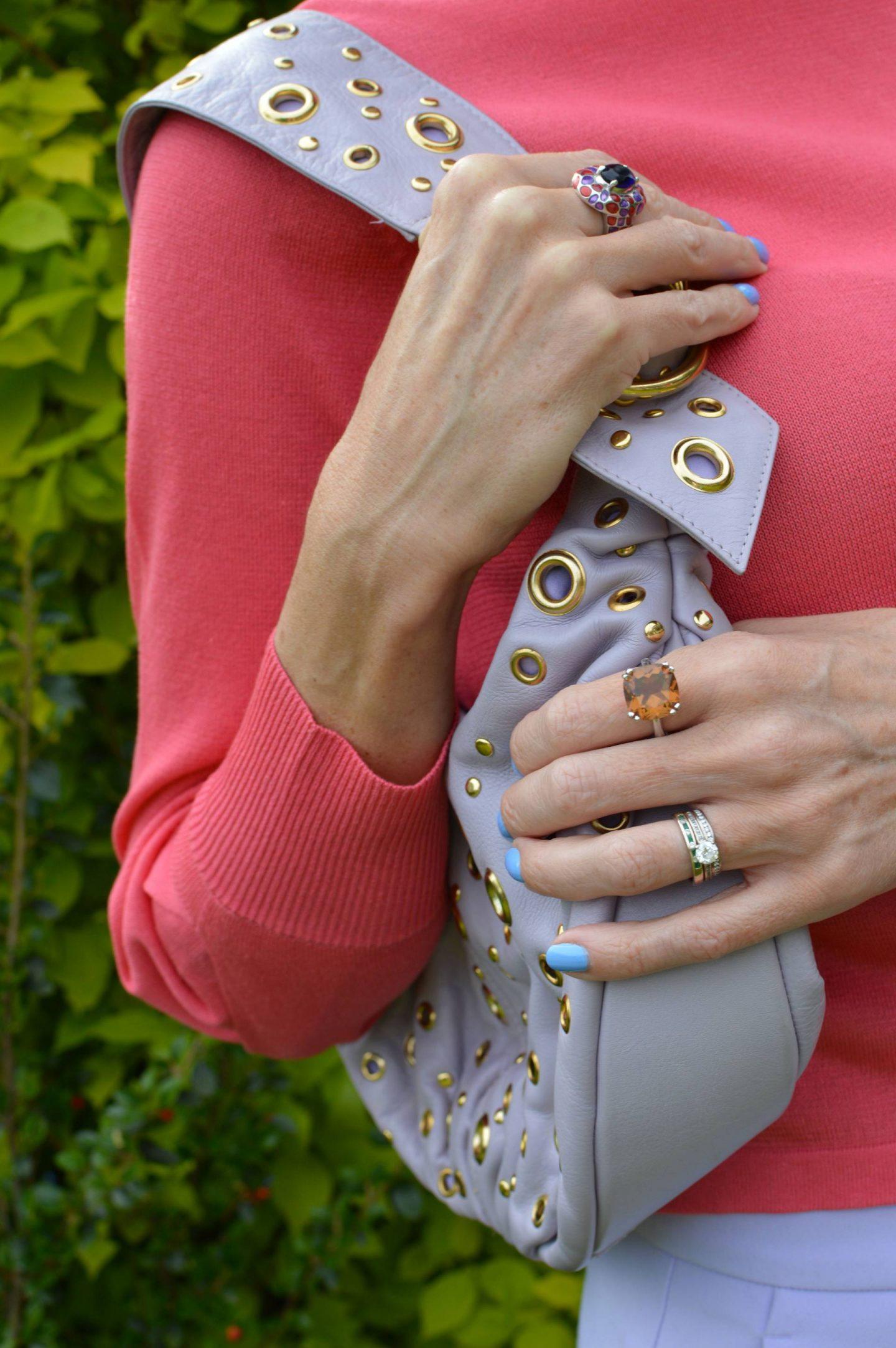 Suzy Smith lilac shoulder bag