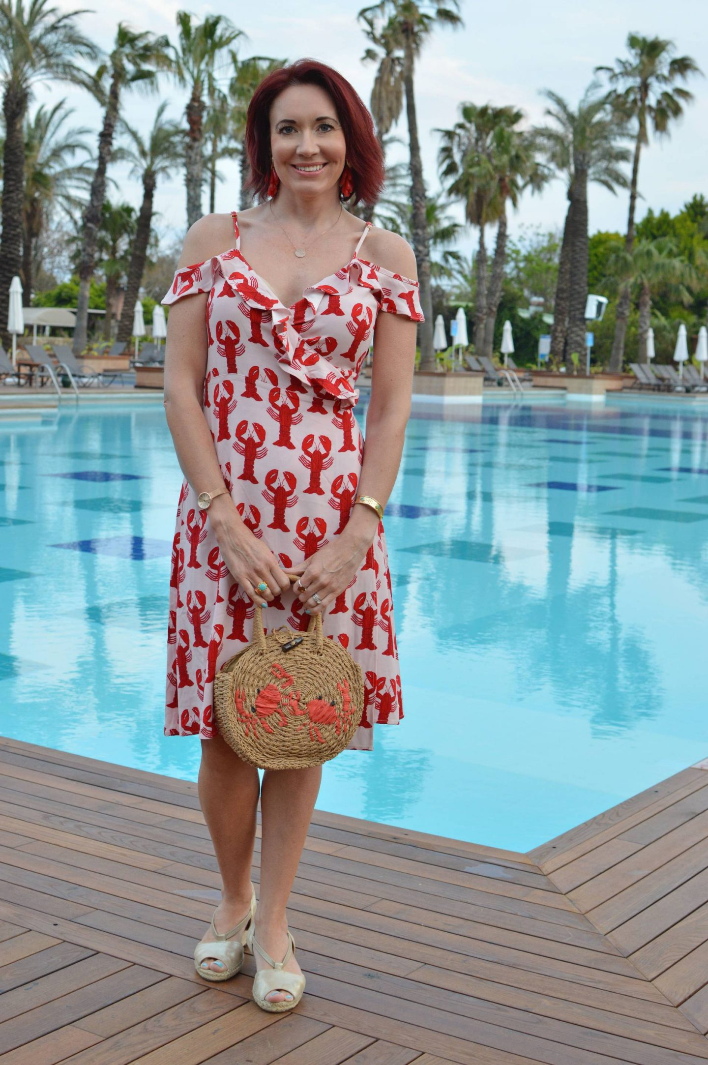 Fabienne Chapot Lobster Print Dress
