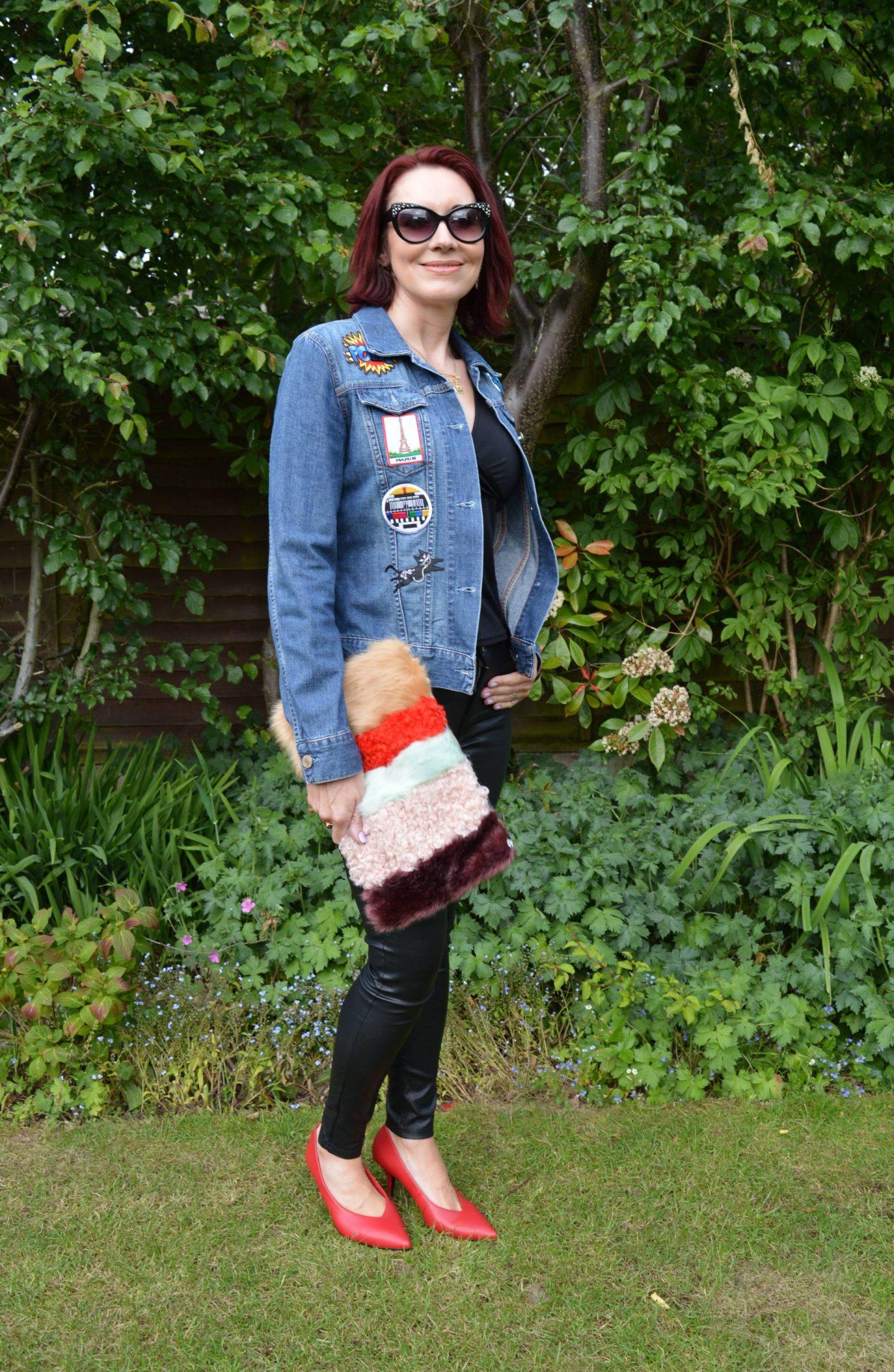 Style Not Age Recycled Fashion, DIY upcycled denim jacket