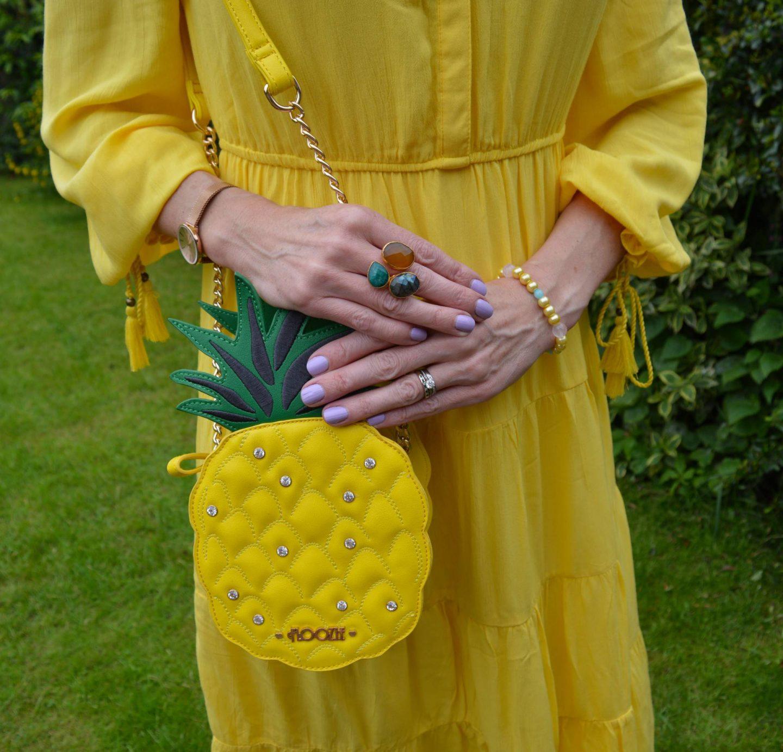 Floozie pineapple bag, Ottoman Hands triple stone ring