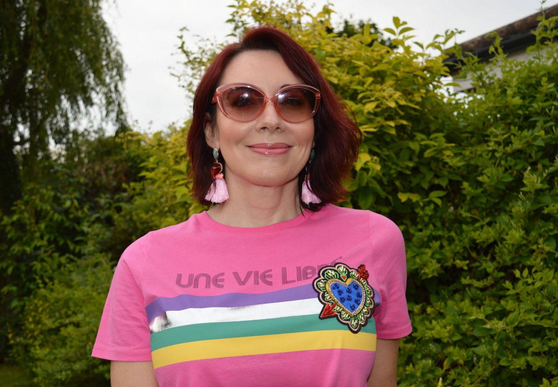 River Island pink Une Vie Libre T-shirt