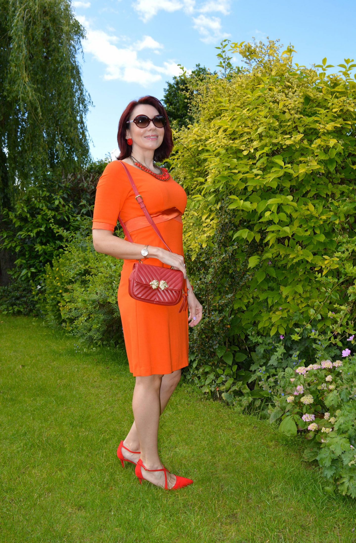 Style Not Age: Flaming June, Fever orange jersey dress