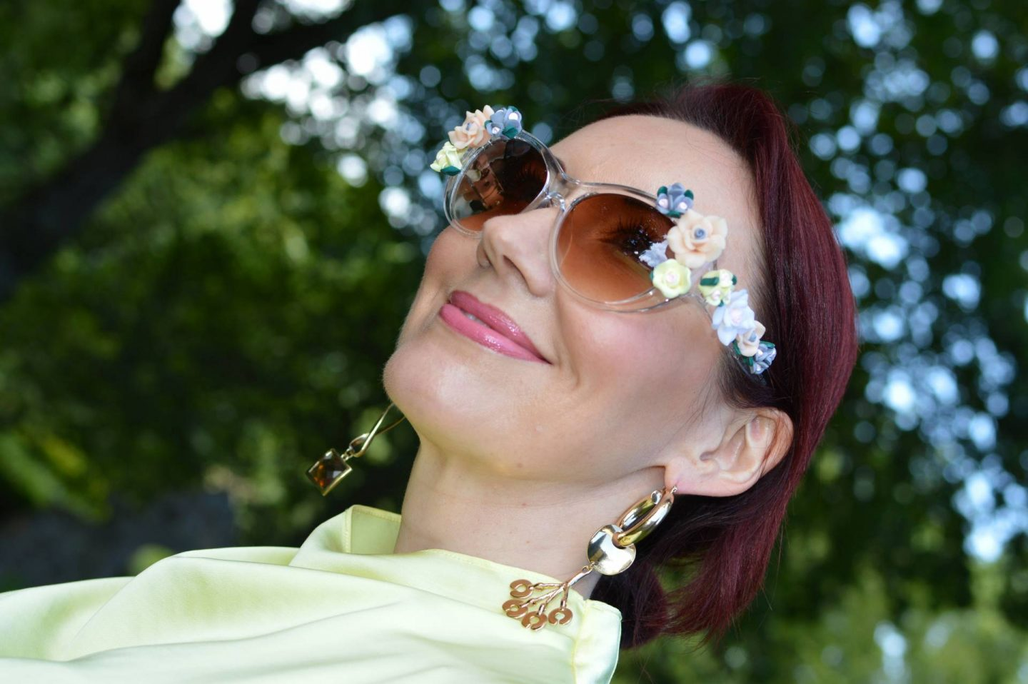 Jeepers Peepers baroque flower sunglasses