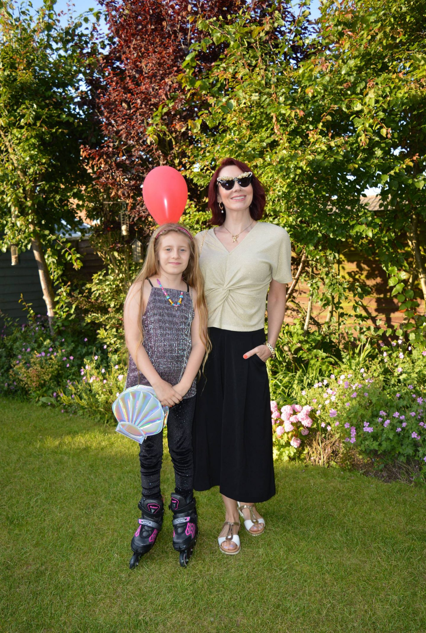 Gold Twist Top and Black Culottes
