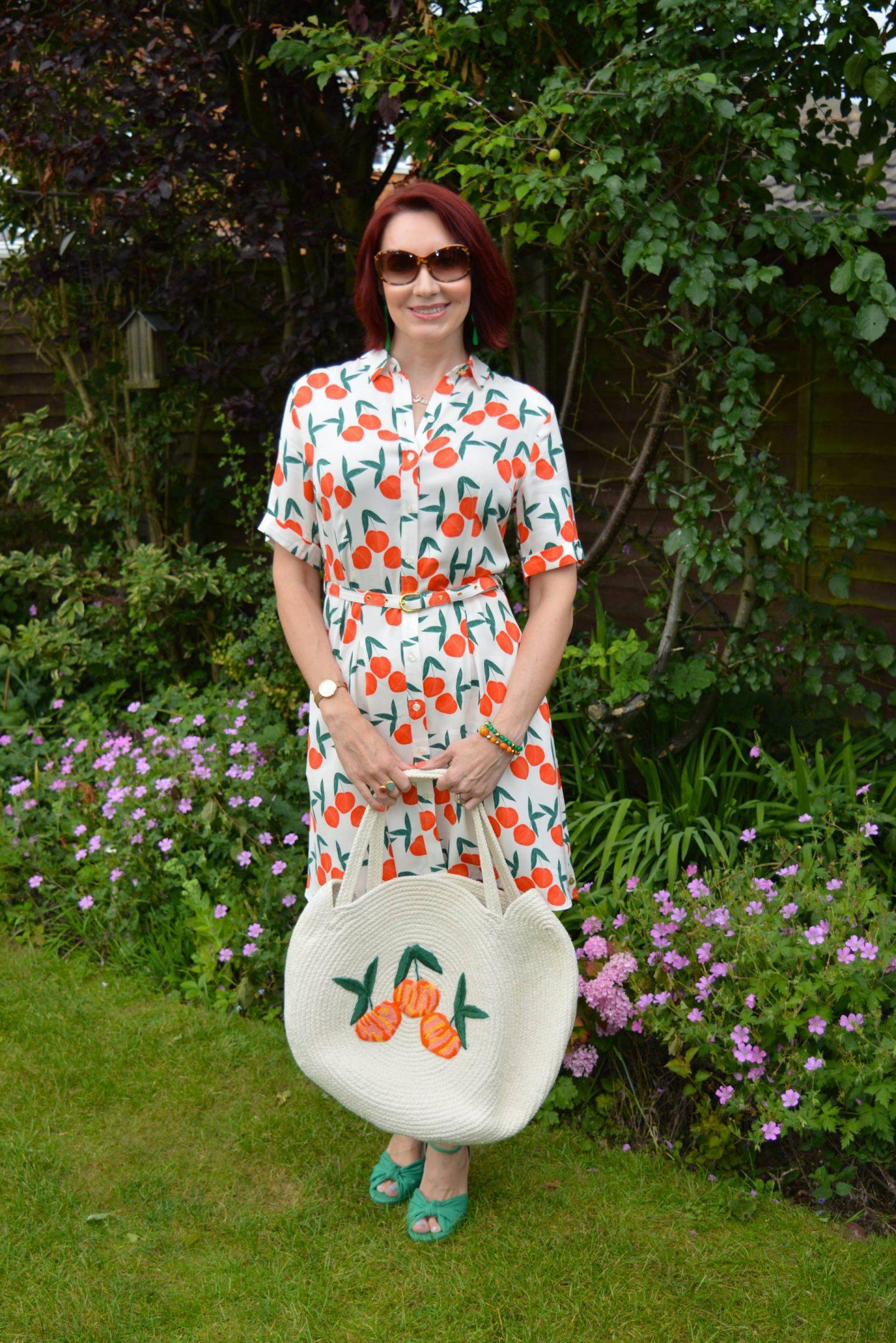 Fabienne Chapot Feeling Peachy Dress and Sunny Bag
