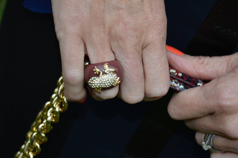 diamante frog ring