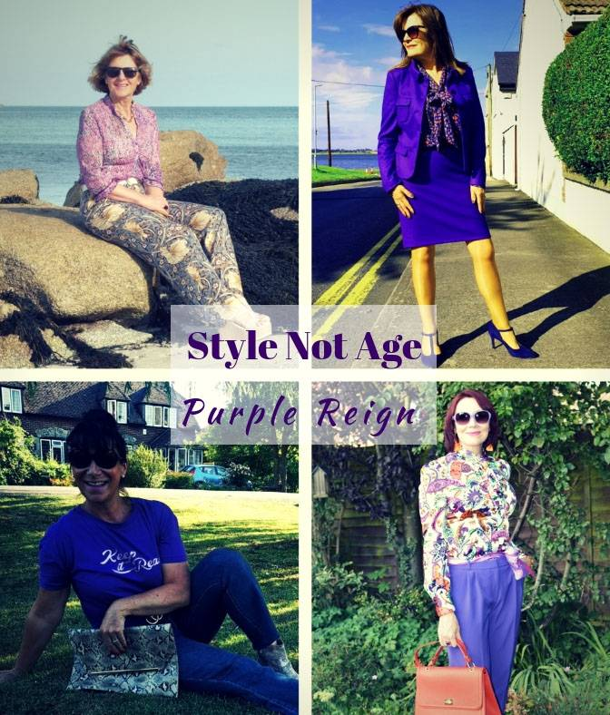 Style Not Age Purple Reign collage