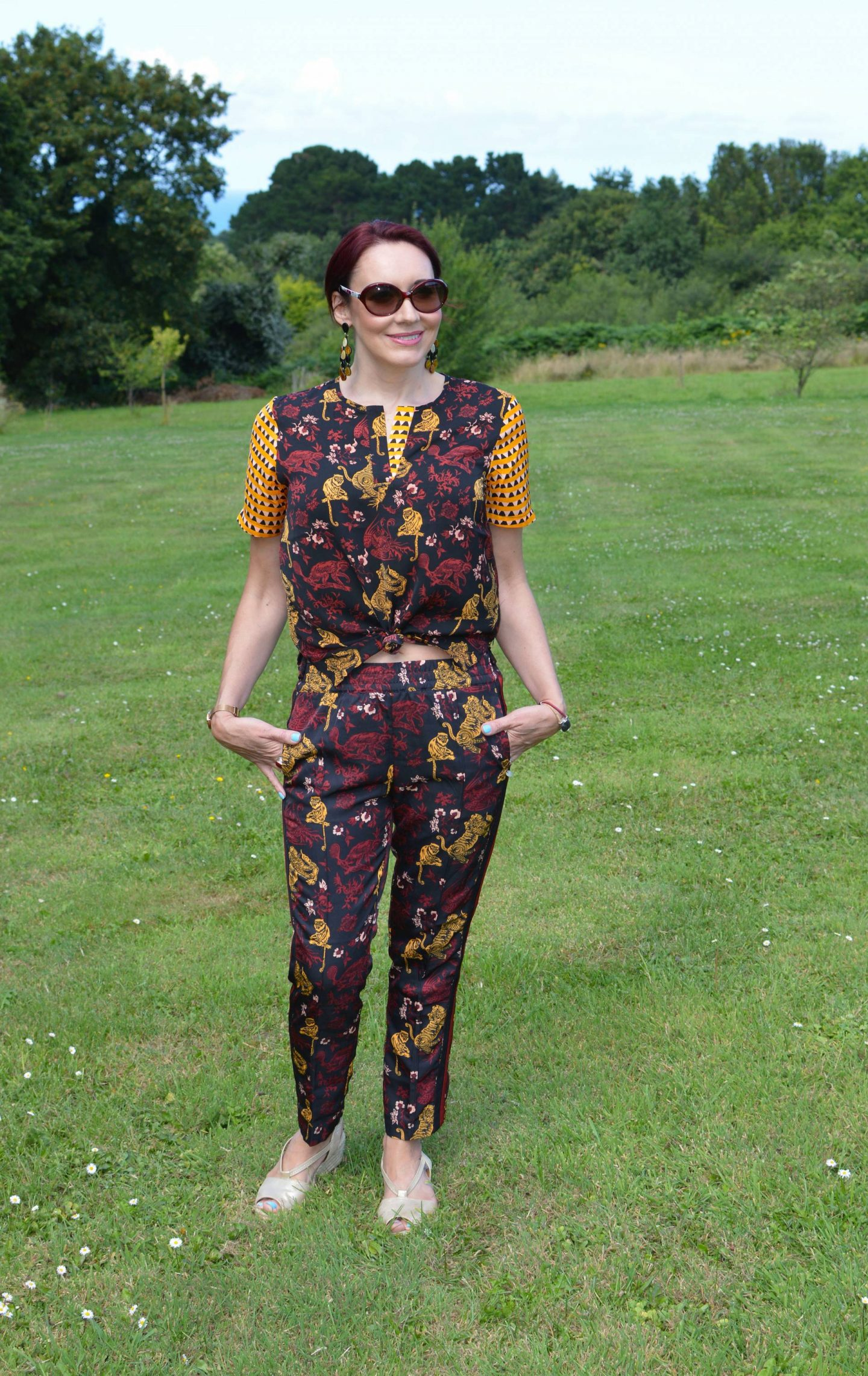 Scotch and Soda matching trousers and top
